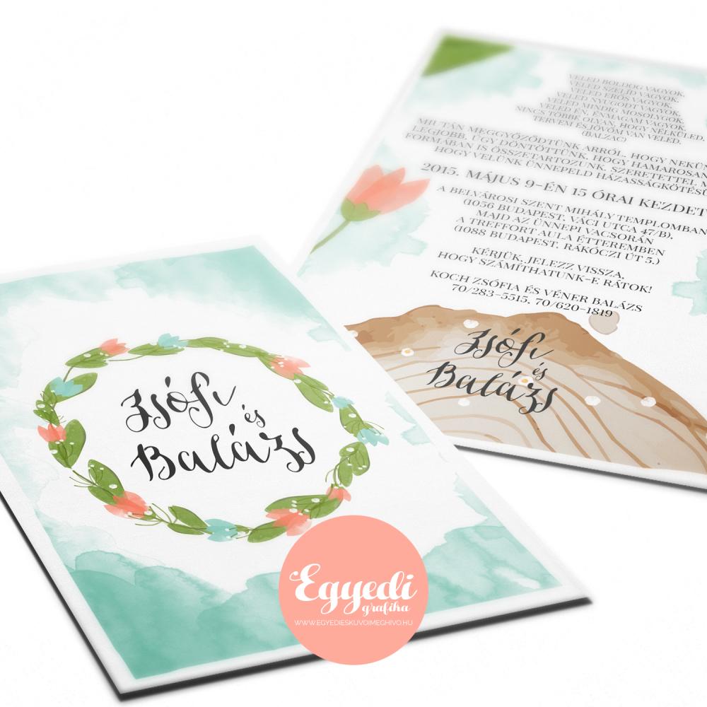 0916a3a56c MUNKÁINK - Egyedi esküvői meghívó tervezés és készítés